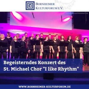 """Begeisterndes Konzert des St. Michael Chor Waldorf in der Aula des Alexander-von-Humboldt-Gymnasiums """"I like Rhythm"""""""