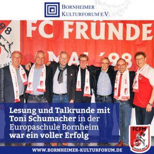 Lesung und Talkrunde mit Toni Schumacher in der Europaschule Bornheim war ein voller Erfolg