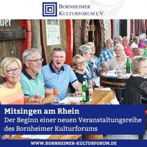 Mitsingen am Rhein: Der Beginn einer neuen Veranstaltungsreihe des Bornheimer Kulturforums