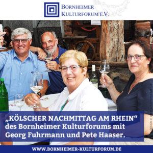 """""""KÖLSCHER NACHMITTAG AM RHEIN"""""""